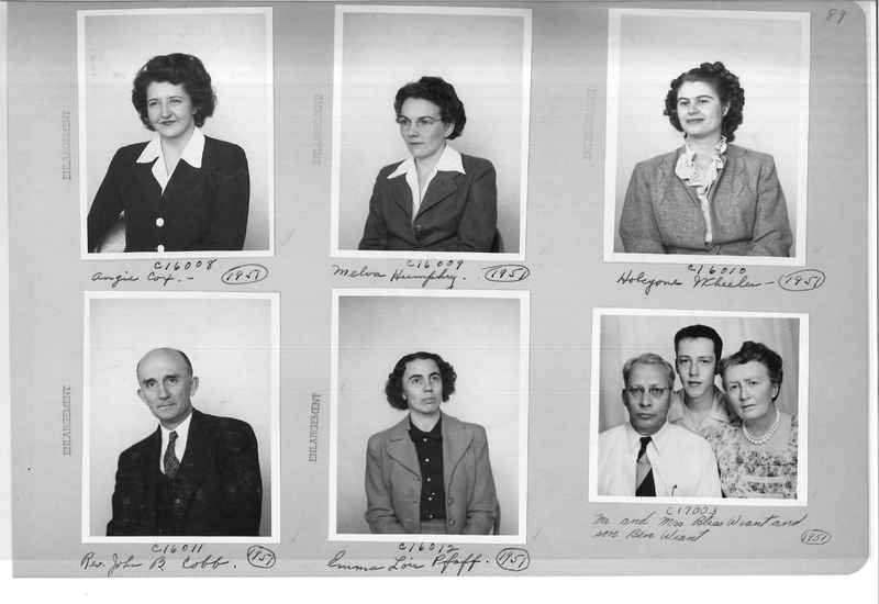 Mission Photograph Album - Portraits #07 Page 0089