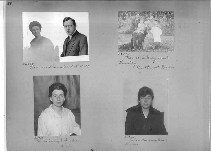 Mission Photograph Album - Portraits #1 page 0058