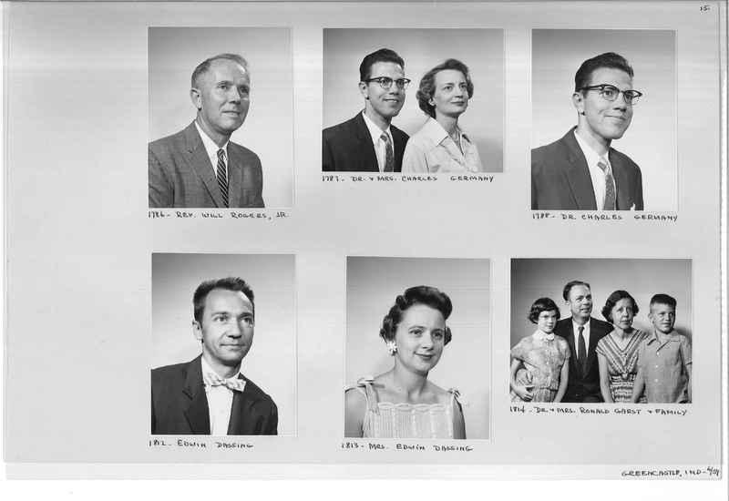 Mission Photograph Album - Portraits #12 Page 0015