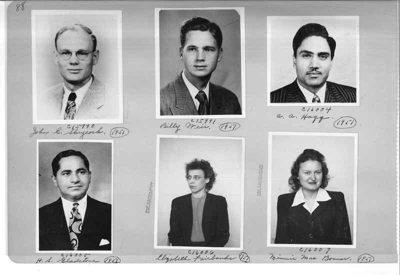 Mission Photograph Album - Portraits #07 Page 0088