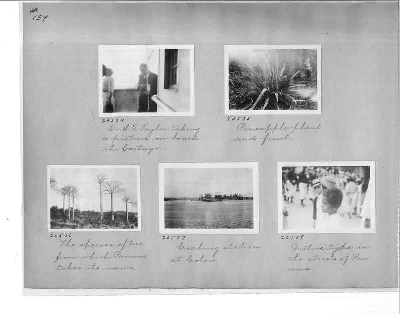 Mission Photograph Album - Panama #1 page  0154