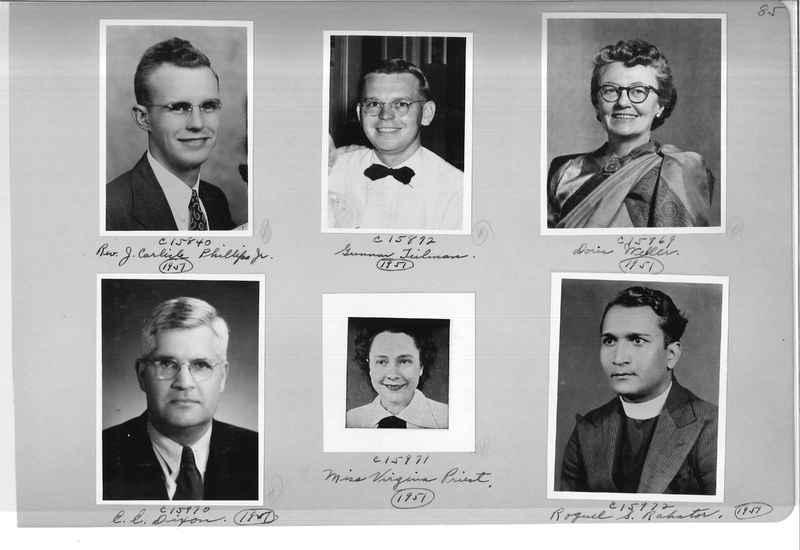 Mission Photograph Album - Portraits #07 Page 0085