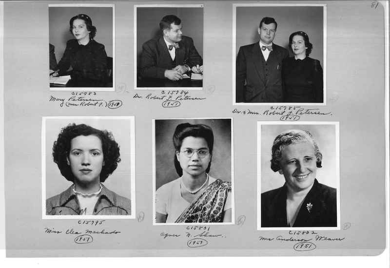 Mission Photograph Album - Portraits #07 Page 0081