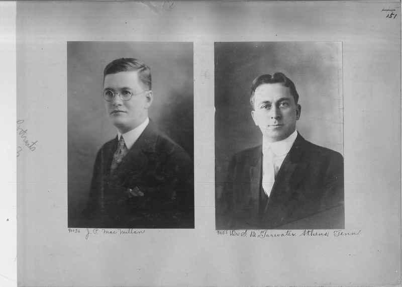 Mission Photograph Album - Portraits #3 page 0151