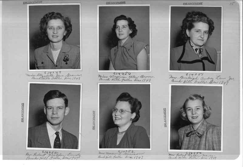 Mission Photograph Album - Portraits #07 Page 0015
