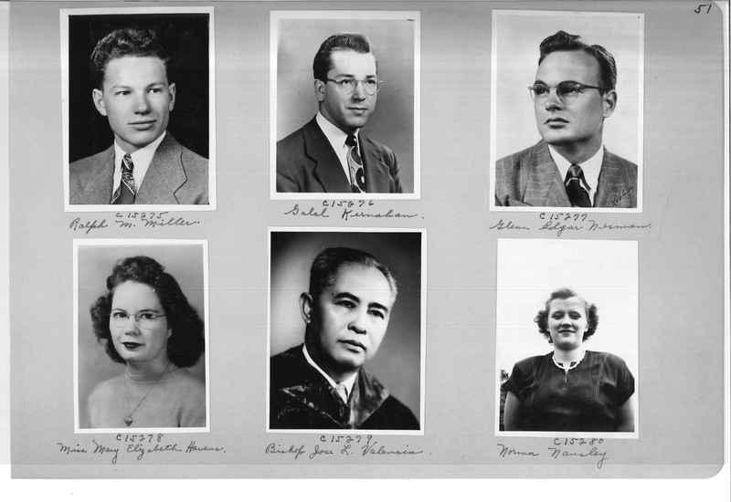 Mission Photograph Album - Portraits #07 Page 0051
