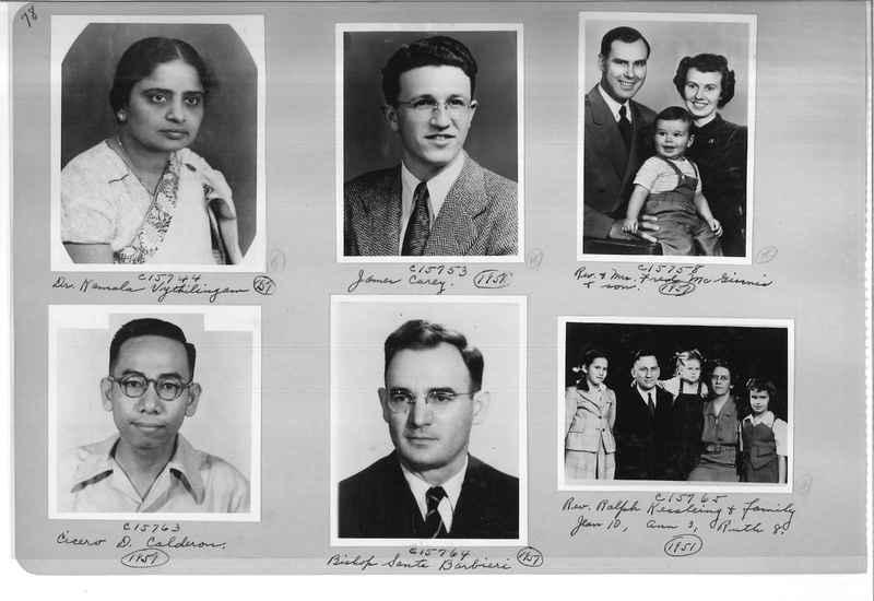 Mission Photograph Album - Portraits #07 Page 0078