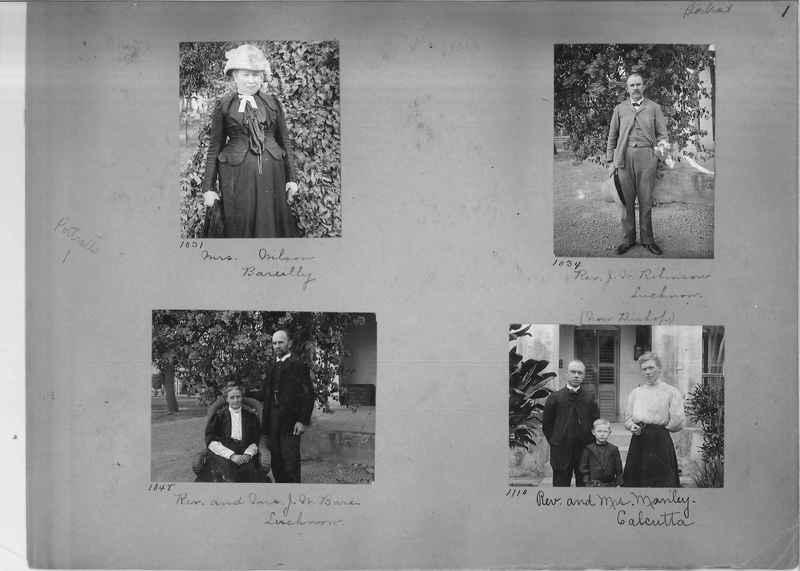 Mission Photograph Album - Portraits #1 page 0001