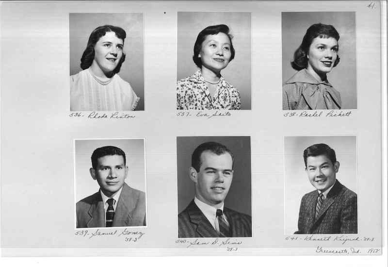 Mission Photograph Album - Portraits #11 Page 0041