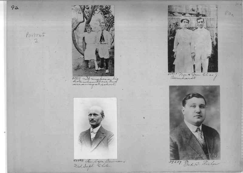 Mission Photograph Album - Portraits #1 page 0092