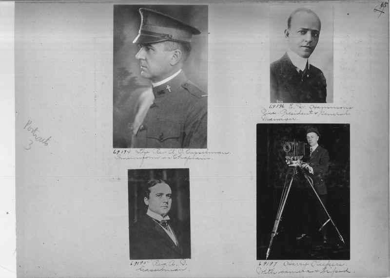 Mission Photograph Album - Portraits #3 page 0065