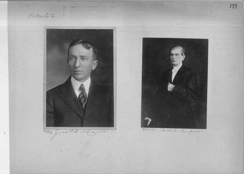 Mission Photograph Album - Portraits #1 page 0177