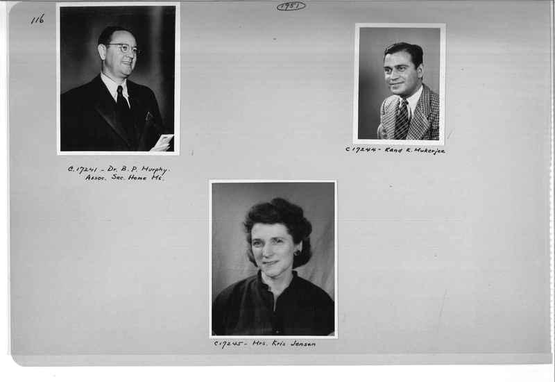 Mission Photograph Album - Portraits #07 Page 0116