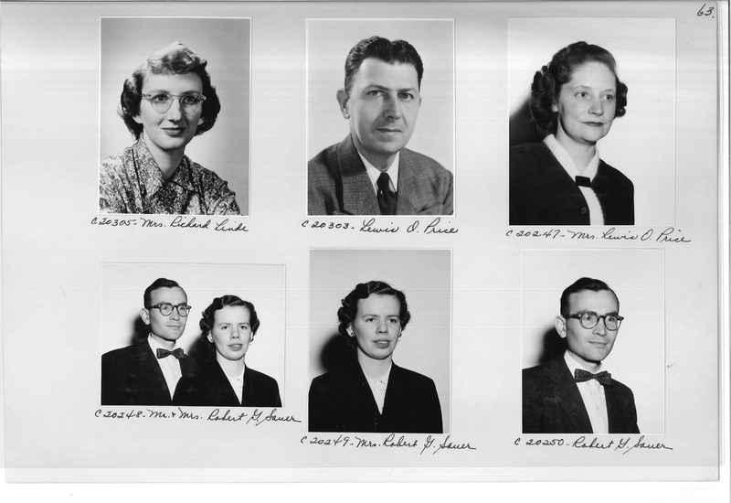 Mission Photograph Album - Portraits #09 Page 0063