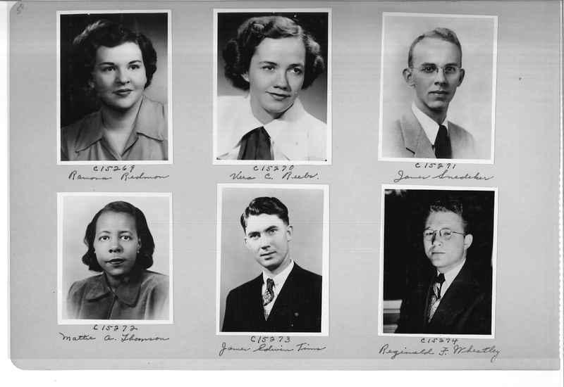 Mission Photograph Album - Portraits #07 Page 0050