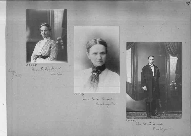 Mission Photograph Album - Portraits #1 page 0059