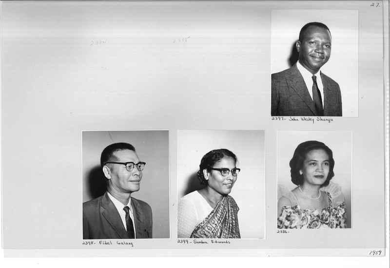 Mission Photograph Album - Portraits #12 Page 0027