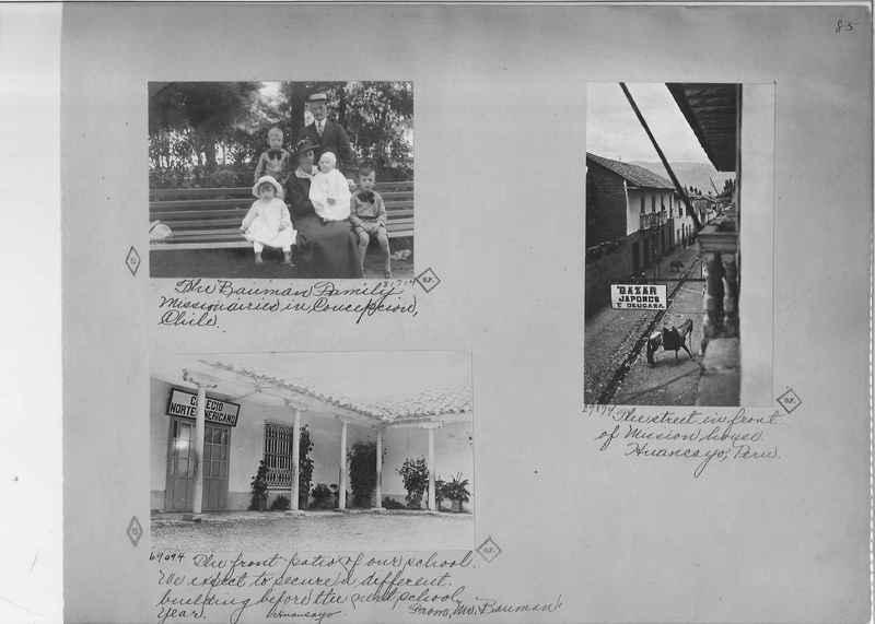 Mission Photograph Album - South America O.P. #1 page 0085