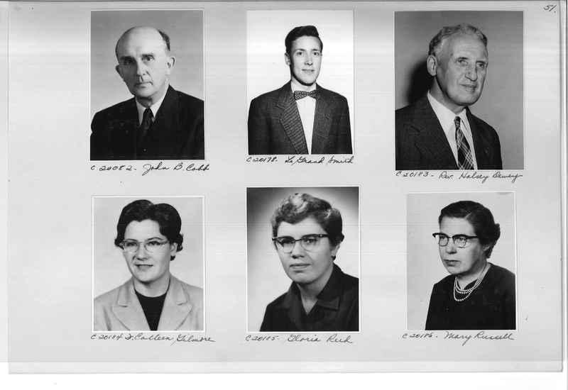 Mission Photograph Album - Portraits #09 Page 0051
