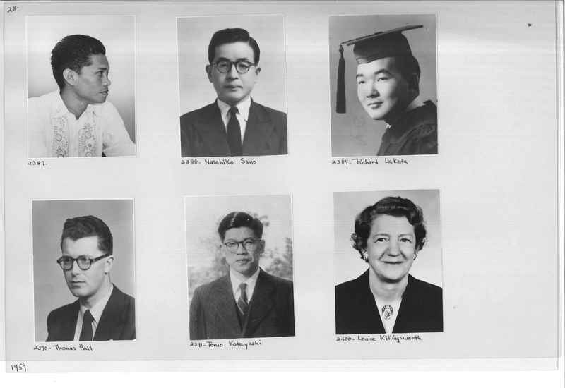 Mission Photograph Album - Portraits #12 Page 0028