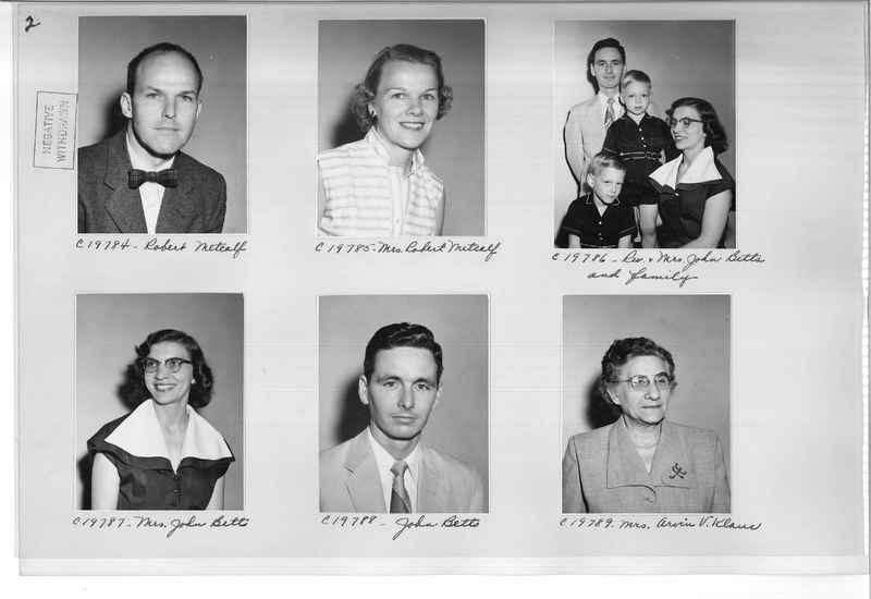 Mission Photograph Album - Portraits #09 Page 0002