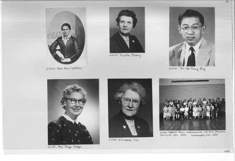 Mission Photograph Album - Portraits #12 Page 0019