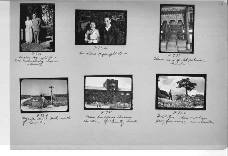 Mission Photograph Album - Korea #6 page 0013