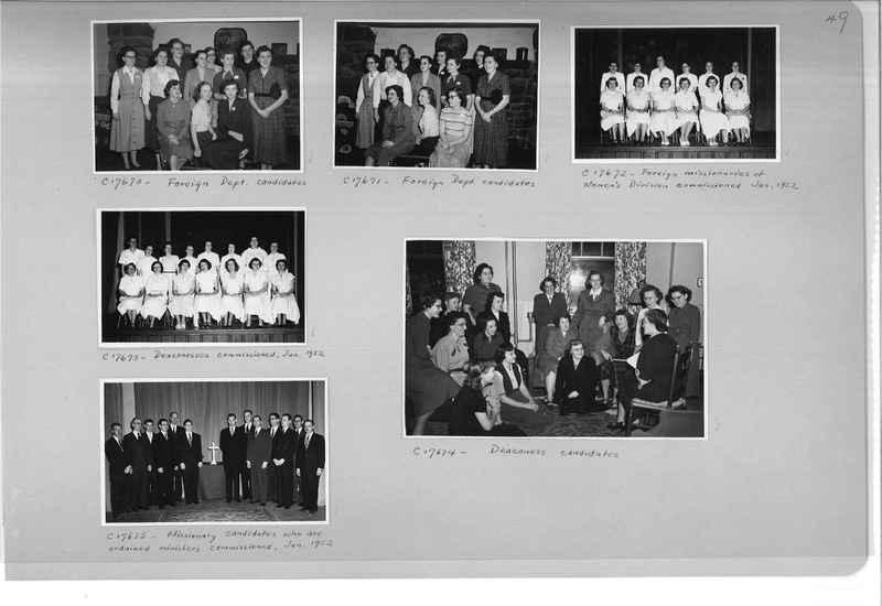 Mission Photograph Album - Portraits #13 Page 0049
