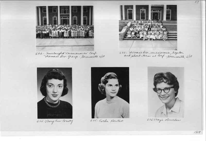 Mission Photograph Album - Portraits #11 Page 0057