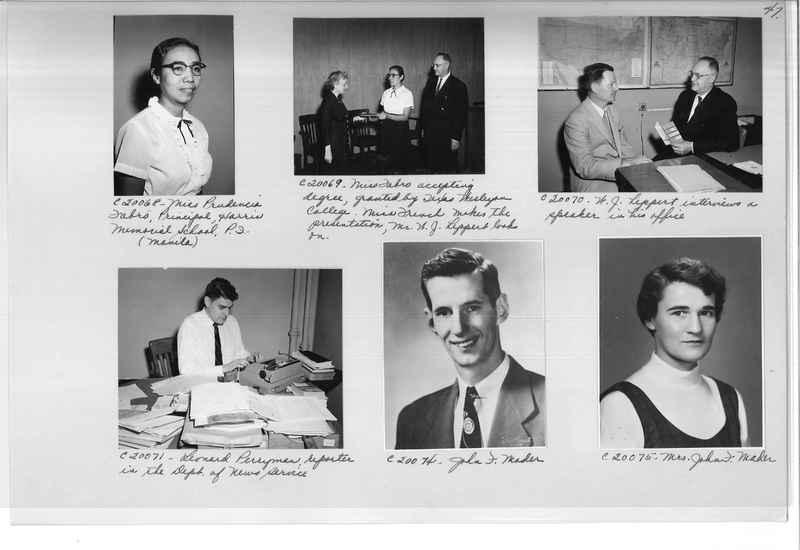 Mission Photograph Album - Portraits #09 Page 0047