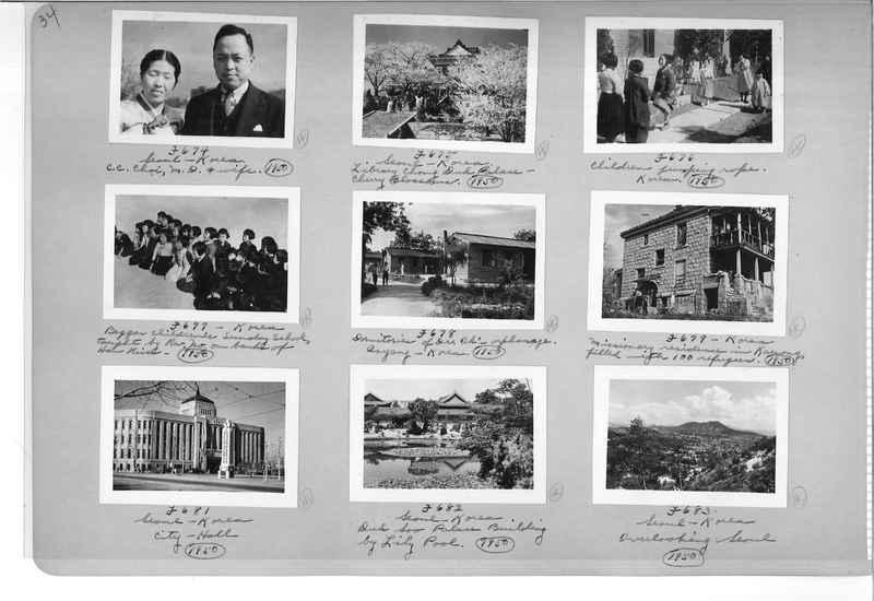 Mission Photograph Album - Korea #6 page 0034