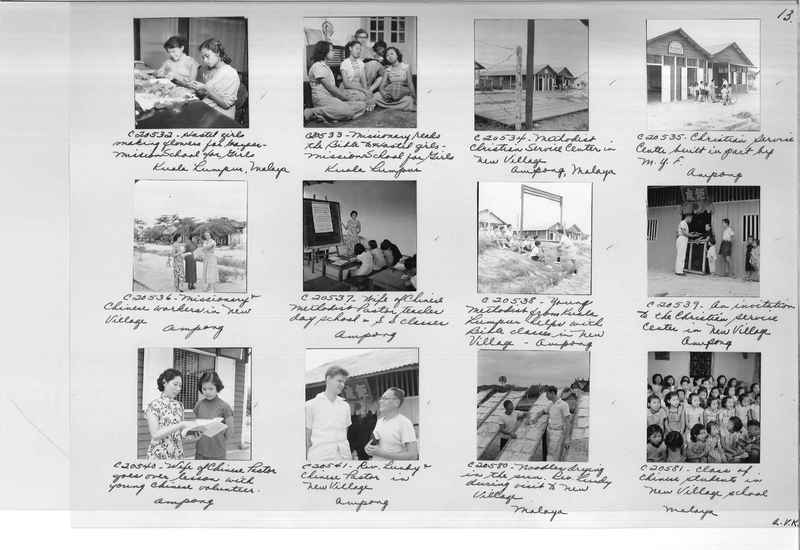 Mission Photograph Album - Malaysia #8 page 0013