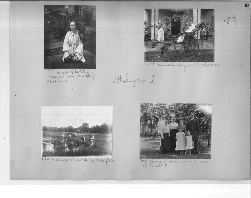 Mission Photograph Album - Malaysia #1 page 0183