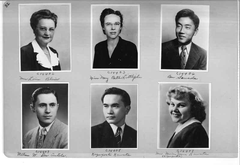 Mission Photograph Album - Portraits #07 Page 0032