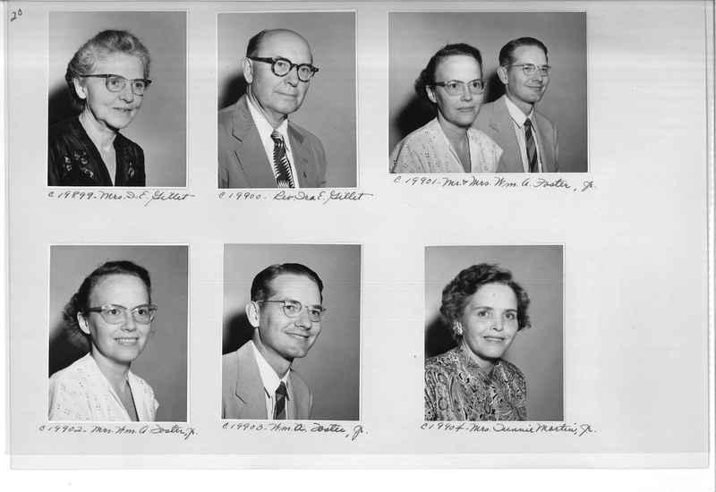Mission Photograph Album - Portraits #09 Page 0020
