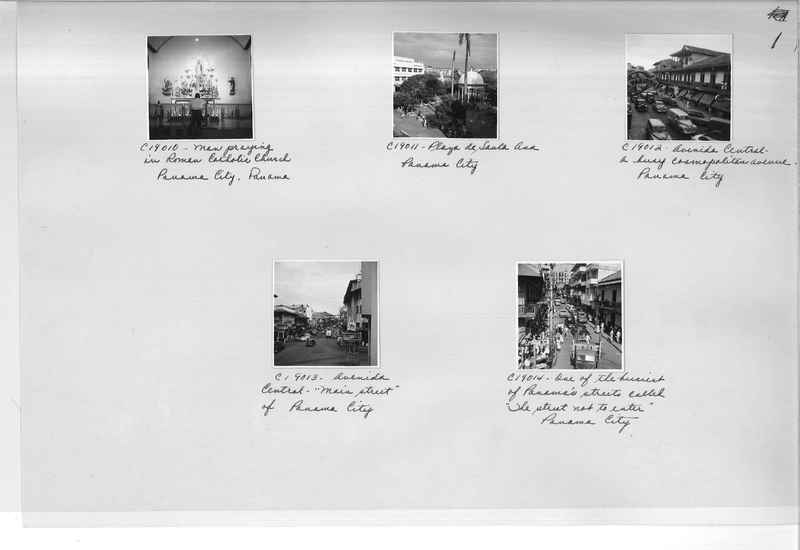 Mission Photograph Album - Panama #05 page 0001