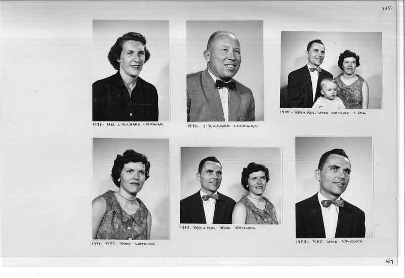 Mission Photograph Album - Portraits #11 Page 0145