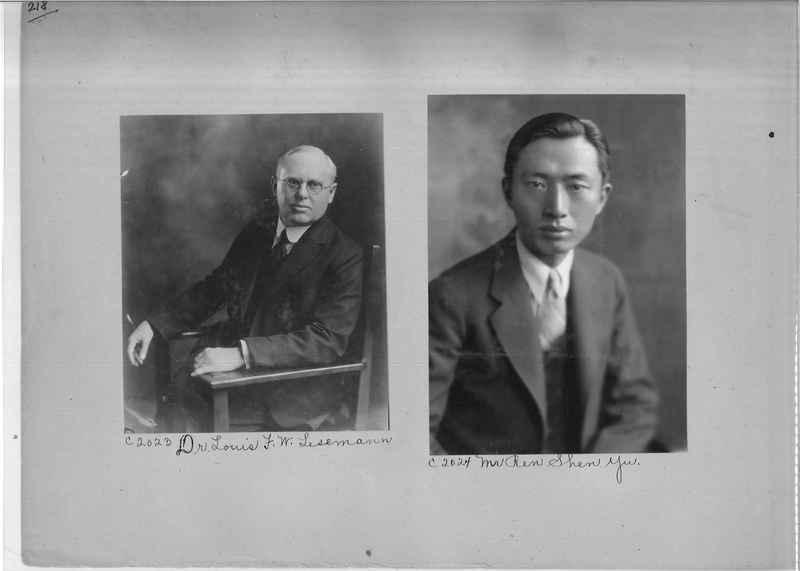 Mission Photograph Album - Portraits #04 Page 218