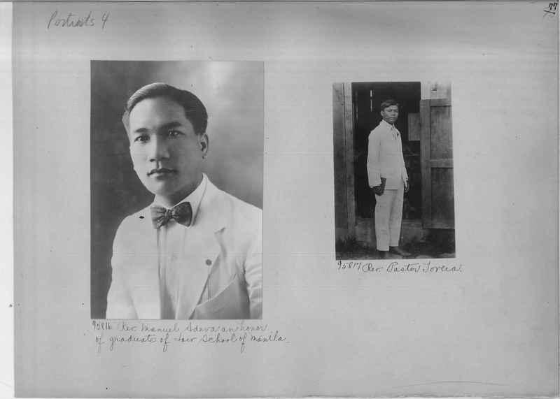 Mission Photograph Album - Portraits #04 Page 077