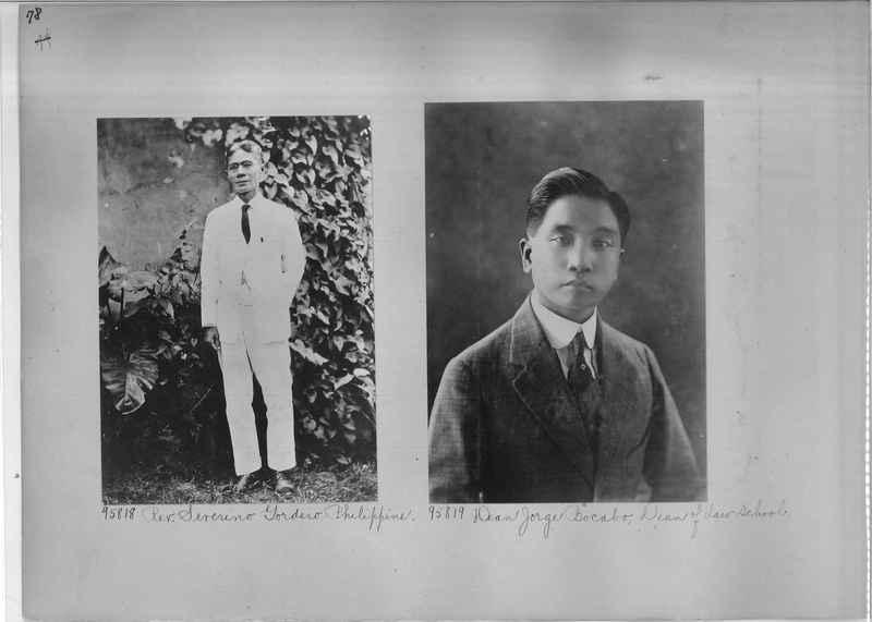 Mission Photograph Album - Portraits #04 Page 078