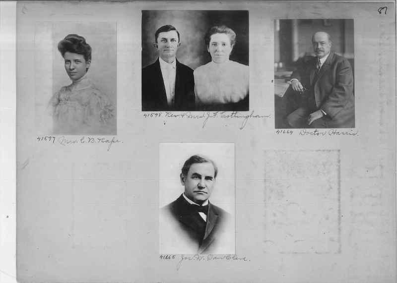 Mission Photograph Album - Portraits #2 page 0087
