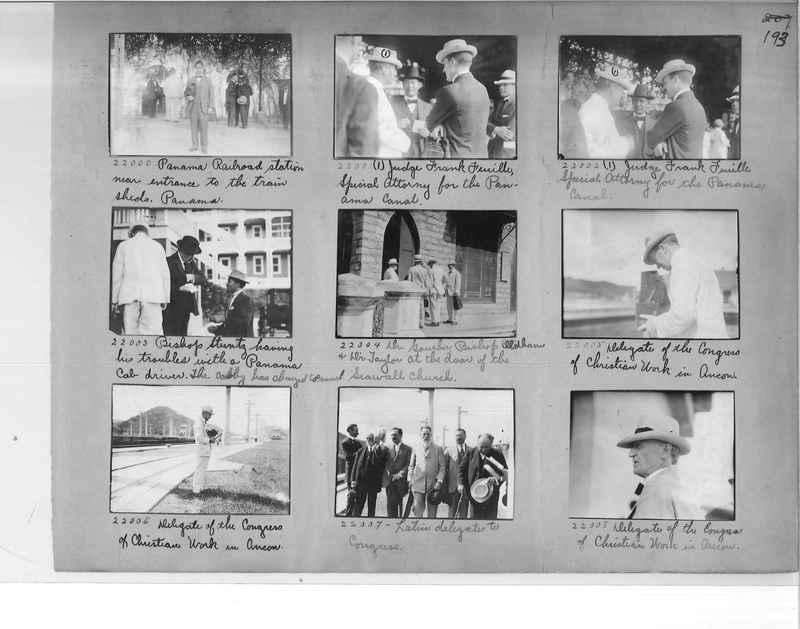 Mission Photograph Album - Panama #1 page  0193