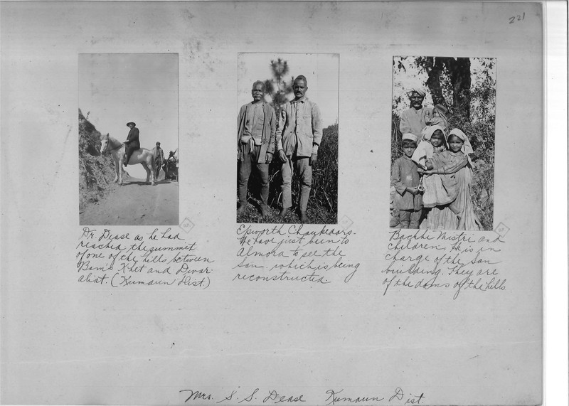 Mission Photograph Album - India - O.P. #02 Page 0221