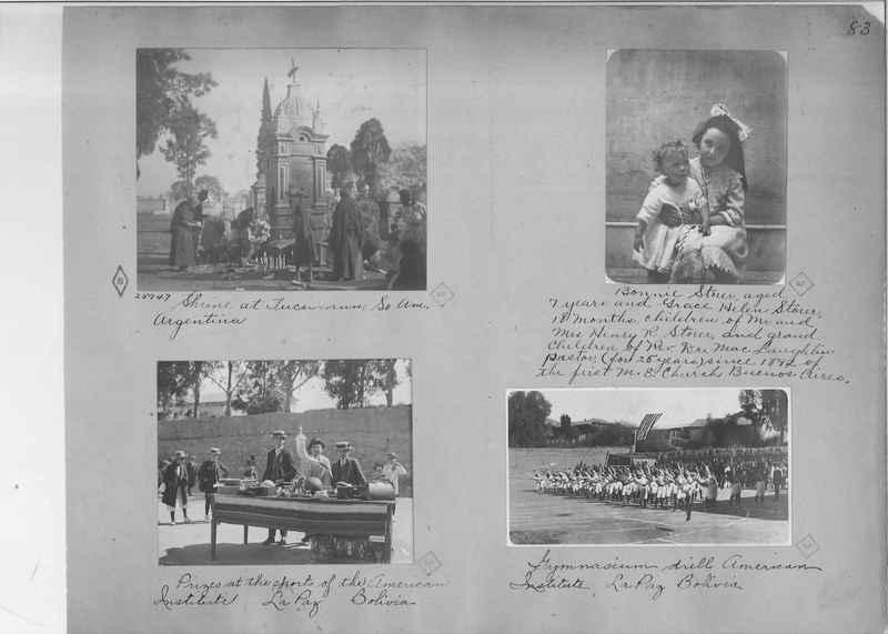 Mission Photograph Album - South America O.P. #1 page 0083