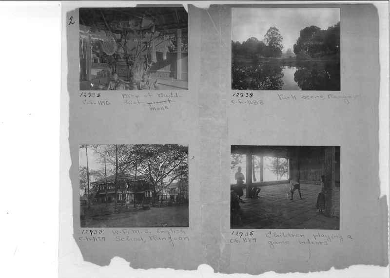 Mission Photograph Album - Burma #1 page 0002