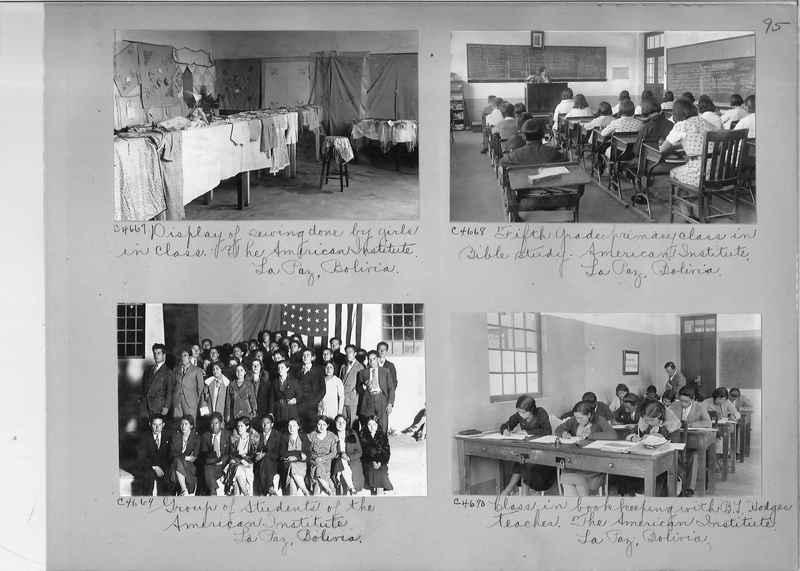 Misson Photograph Album - South America #8 page 0095