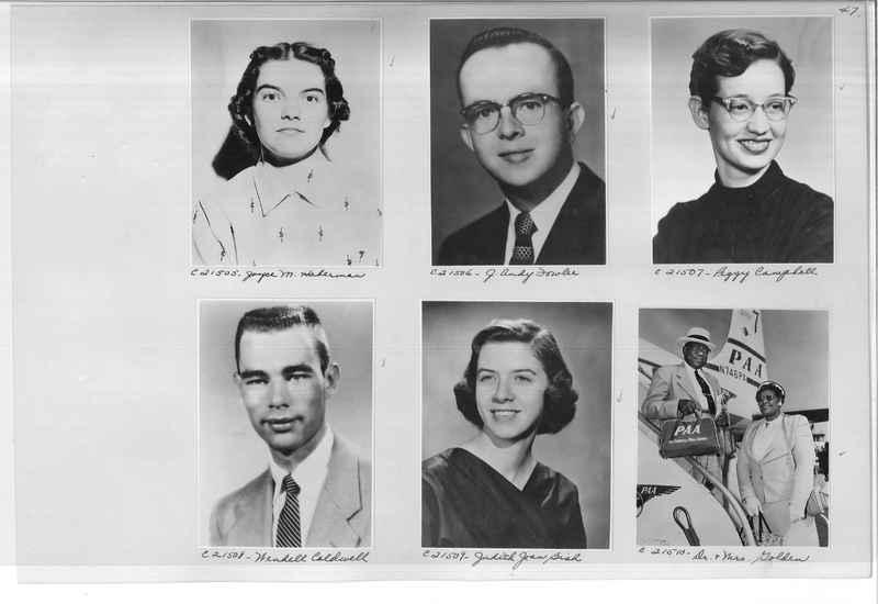Mission Photograph Album - Portraits #10 Page 0047