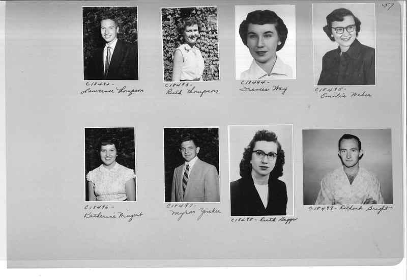 Mission Photograph Album - Portraits #08 Page 0057