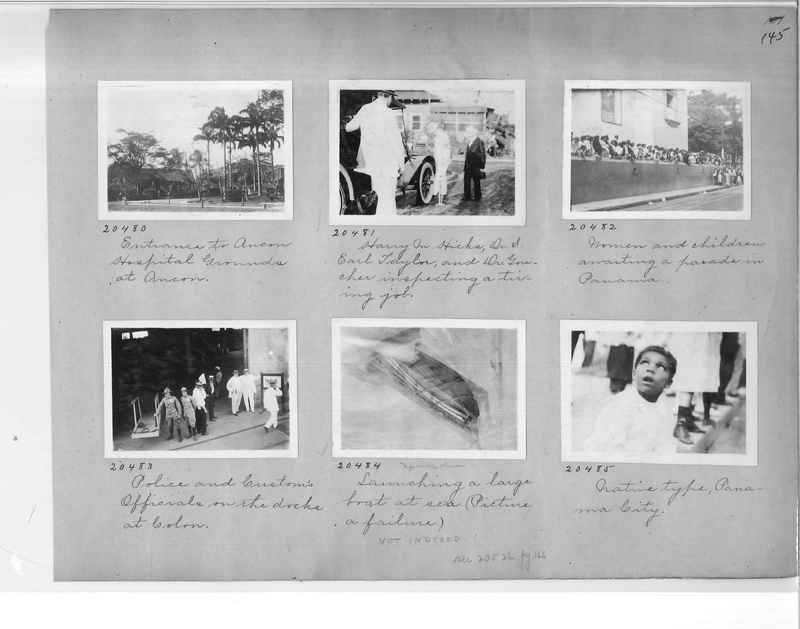 Mission Photograph Album - Panama #1 page  0145