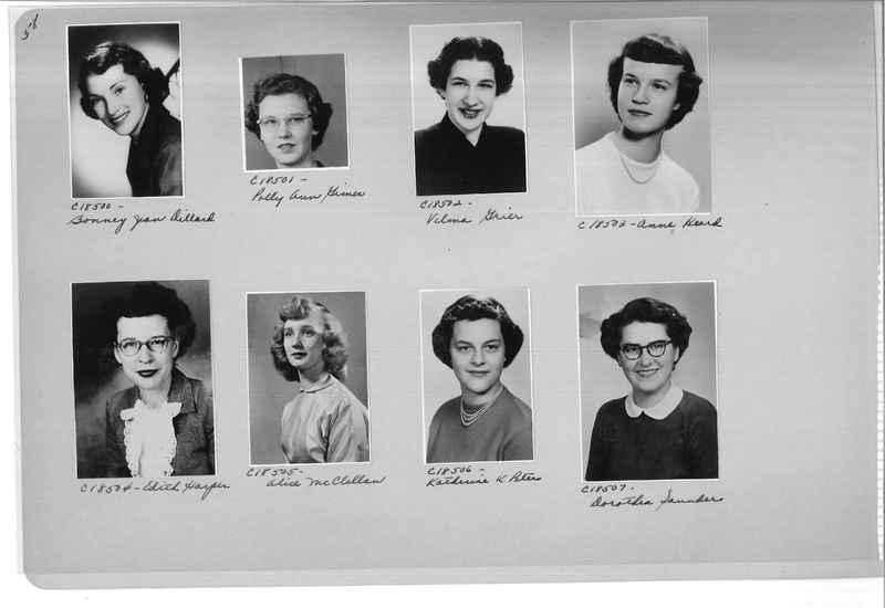 Mission Photograph Album - Portraits #08 Page 0058